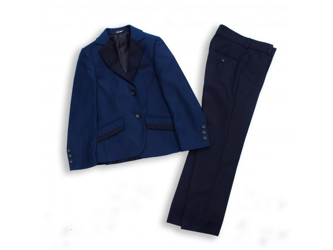 Chlapecký společenský oblek luxusní tmavě modrý