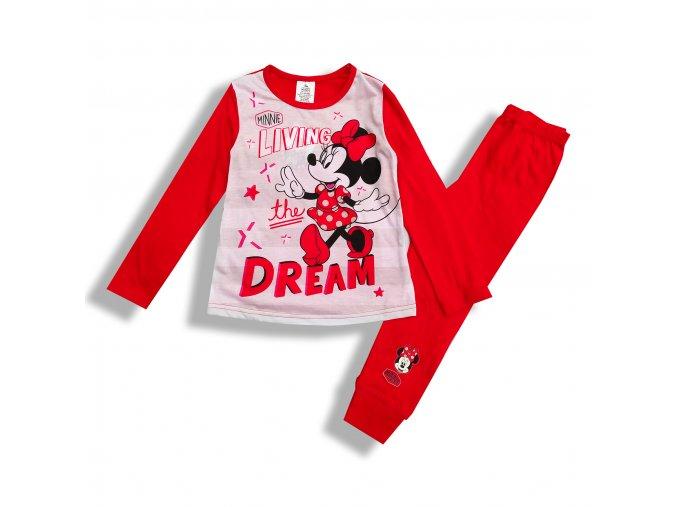 Dětské dívčí pyžamo Minnie Mouse červenés 4-10 let