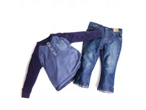 Komplet 4: tričko džíny 1-4 roky