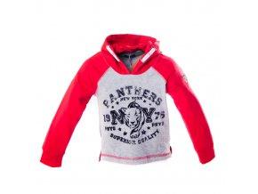 MINOTI Tigr 1 tričko s kapucou červené 1-3 roky