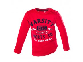 MINOTI tričko červené s dlouhým rukávem 1-4 roky