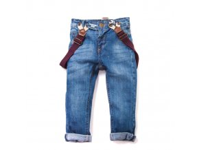 Chlapecké džíny MINOTI s kšandami 1-4 roky