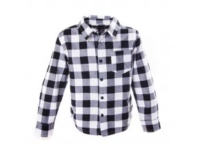 Chlapecká košile kostičky černobílá 3-5 let
