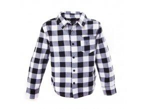 Chlapecká košile kostičky černobílá 3-8 let