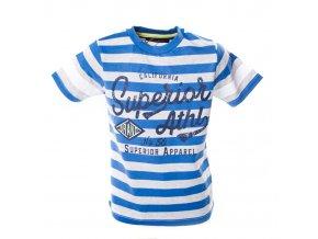 Tričko Super 3 modré pruhy tmavé 3-8 let