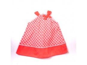 Dívčí kostičkované šaty neonové  1-4 roky