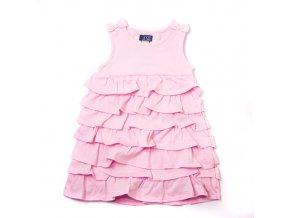 Šaty MINOTI růžové s volánky 1-4 roky