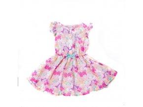 Dívčí šaty růžové s motýlky Minoti 0-3 roky