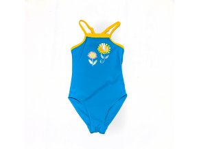Plavky modré s kytičkami 2-10 let