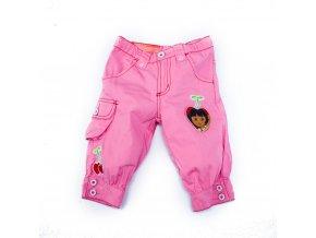 Dívčí dětské tříčtvrteční kalhoty Dora kraťasy růžové 2-8 let