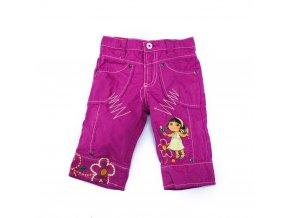 Dora kalhoty vínové, tříčtvrteční 2-8 let