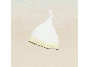 Čepička pro miminka s hvězdičkami - žlutá