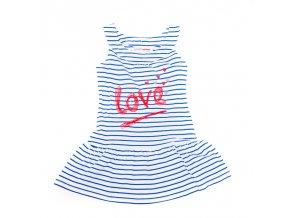 Šaty Love modré proužky 3-8 let