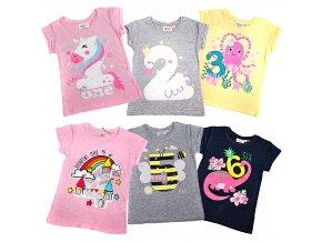 Narozeninová trička dětská pro holky 1-6 MiniKidz