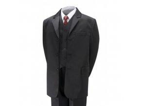 Chlapecký společenský oblek černý, komplet 5 dílný (2-16 let)