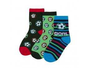 Ponožky chlapecké fotbal A 3 páry