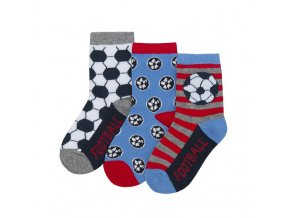 Ponožky chlapecké fotbal B 3 páry