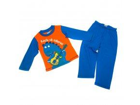 Pyžamo oranžovo-modré chlapecké