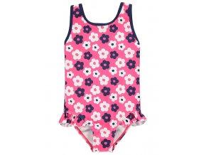 Dívčí plavky s květy