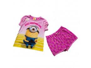 Dětské dívčí krátké pyžamo Mimoni