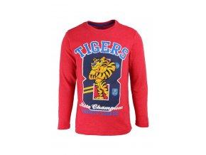 Červené tričko s tygrem, dlouhý rukáv