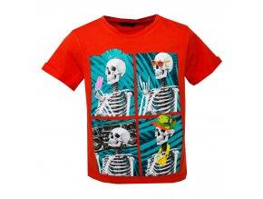 Tričko kostry červené, chlapecké