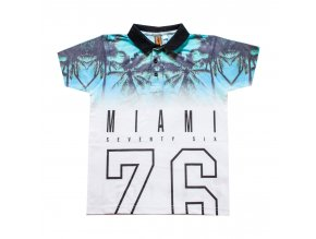 Tričko chlapecké Miami s límečkem