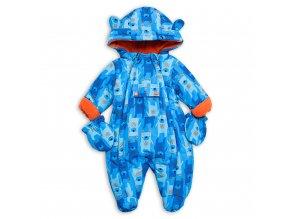 Kojenecká zimní kombinéza modrá s medvídky