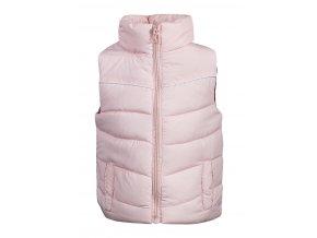 Dětská teplá vesta, růžová, dívčí
