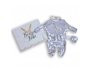 Luxusní kojenecký komplet Zebra s dárkovou taškou