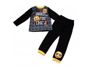 Dětské pyžamo emoji smajlík černé 6-13 let