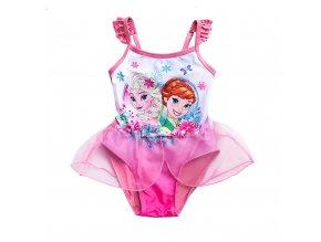 Dětské dívčí plavky Frozen růžové s TUTU sukničkou