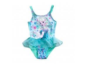 Dětské dívčí plavky Frozen modré s TUTU sukničkou