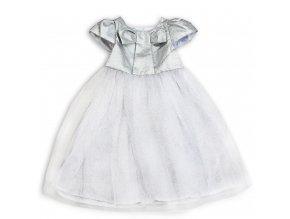Dětské dvčí společenské šaty stříbrné
