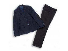 Chlapecký společenský oblek luxusní modro-černý A