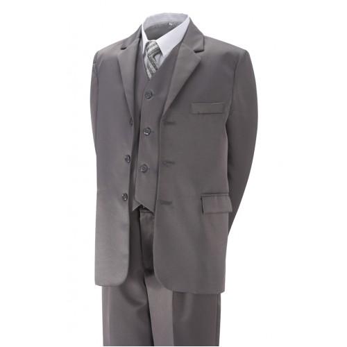 Gorgeous Collection Chlapecký společenský oblek šedý, komplet 5 dílný Velikost: 98