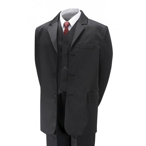 Gorgeous Collection Chlapecký společenský oblek černý, komplet 5 dílný (2-16 let) Velikost: 98