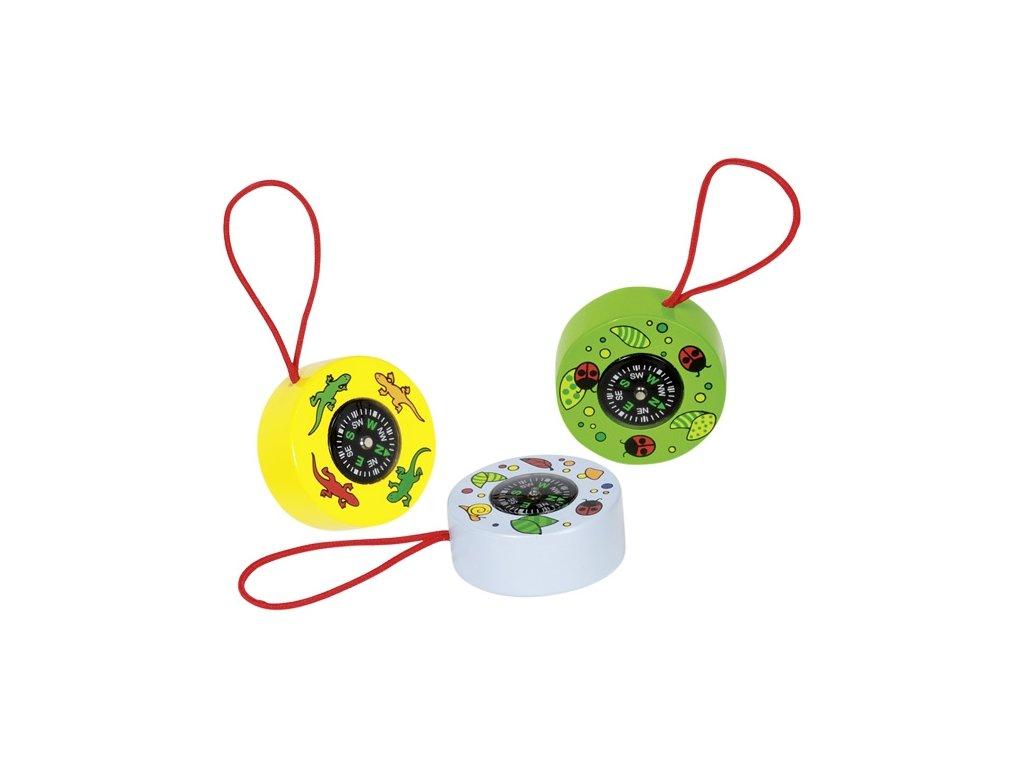 Praktický malý kompas na šnůrce - 3 barvy.