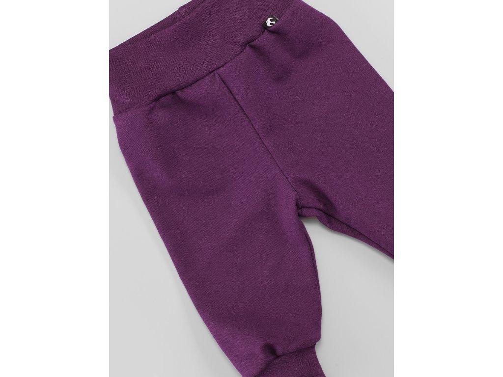 Tepláky fialové BAVLNA