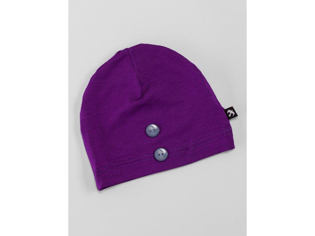 Čepice bez krytí tmavě fialová