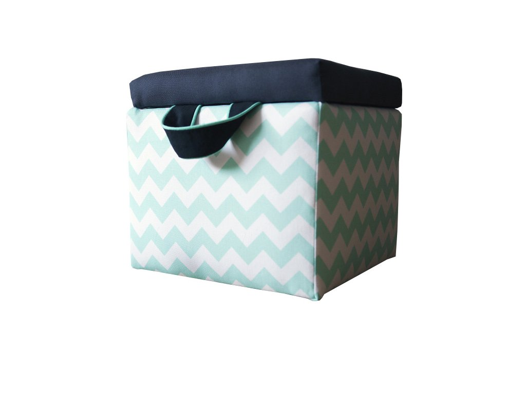 Taburet Chevron Mint