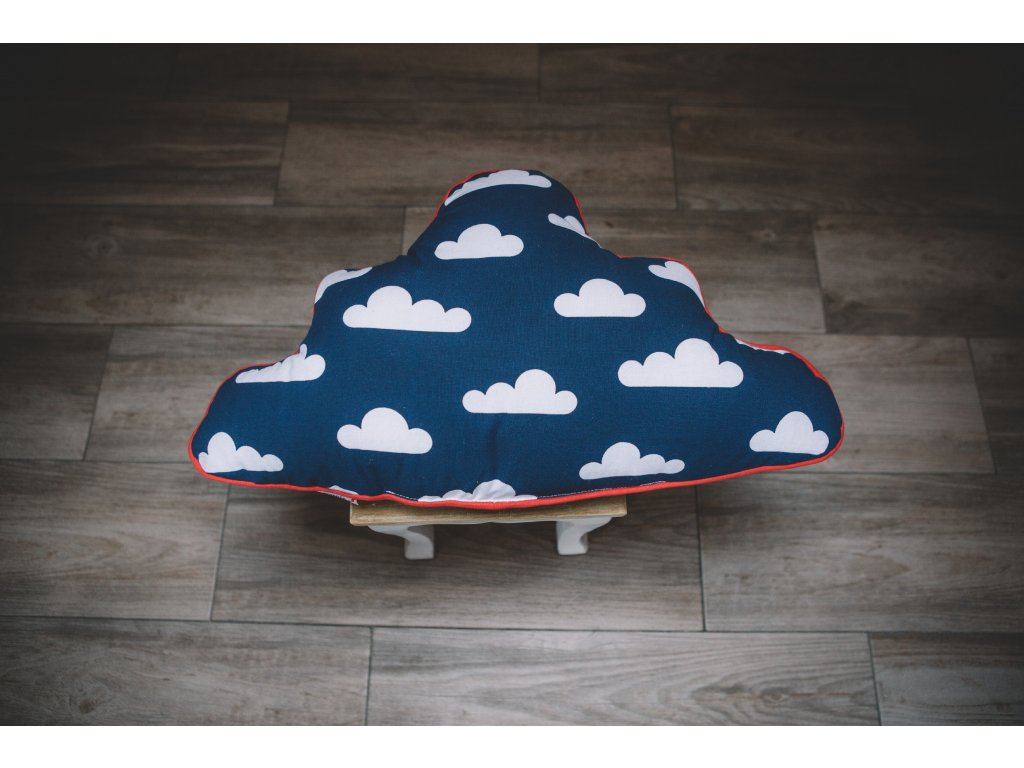 Polštář ve tvaru mraku Clouds, navy