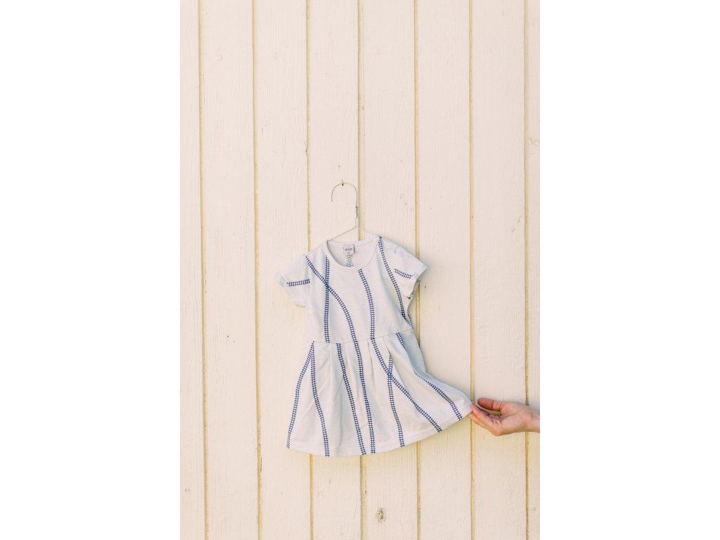 Šaty s krátkým rukávem Koleje