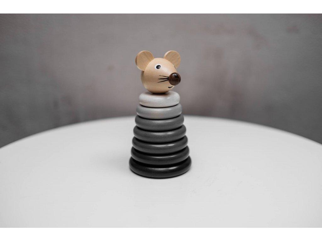Skládačka Myška šedé odstíny