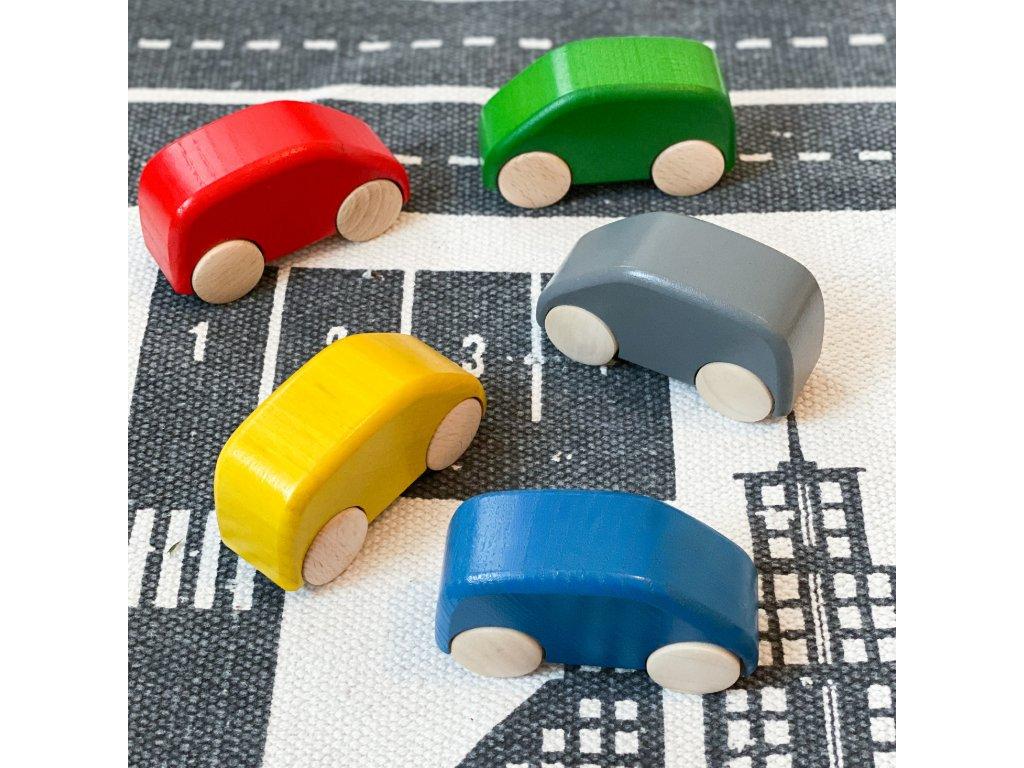 Dřevěné auto - 5 barev