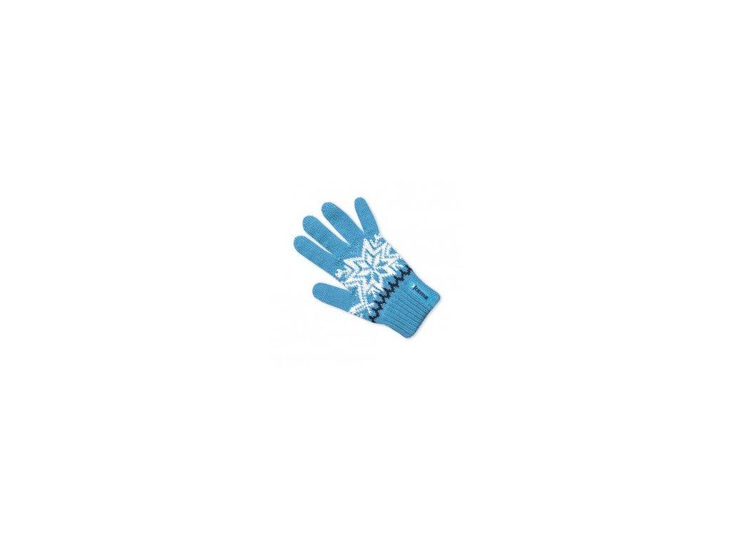 Dětské pletené rukavice modré