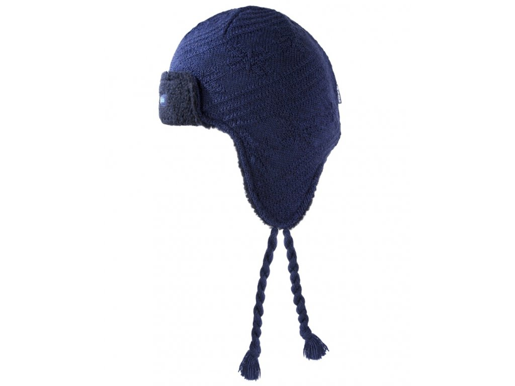 Dětská pletená čepice tmavě modrá