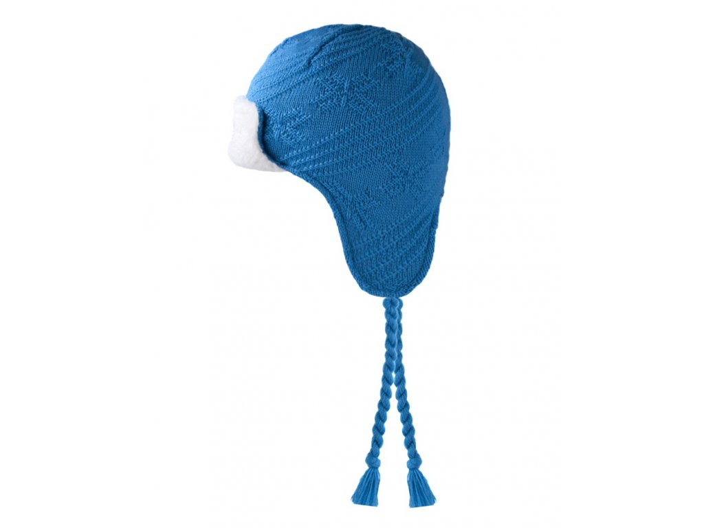 Dětská pletená čepice světle modrá