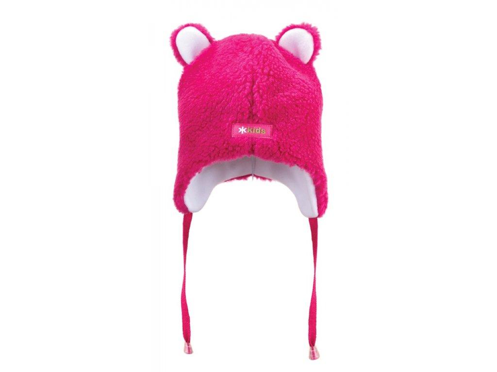 Dětská fleecová čepice růžová