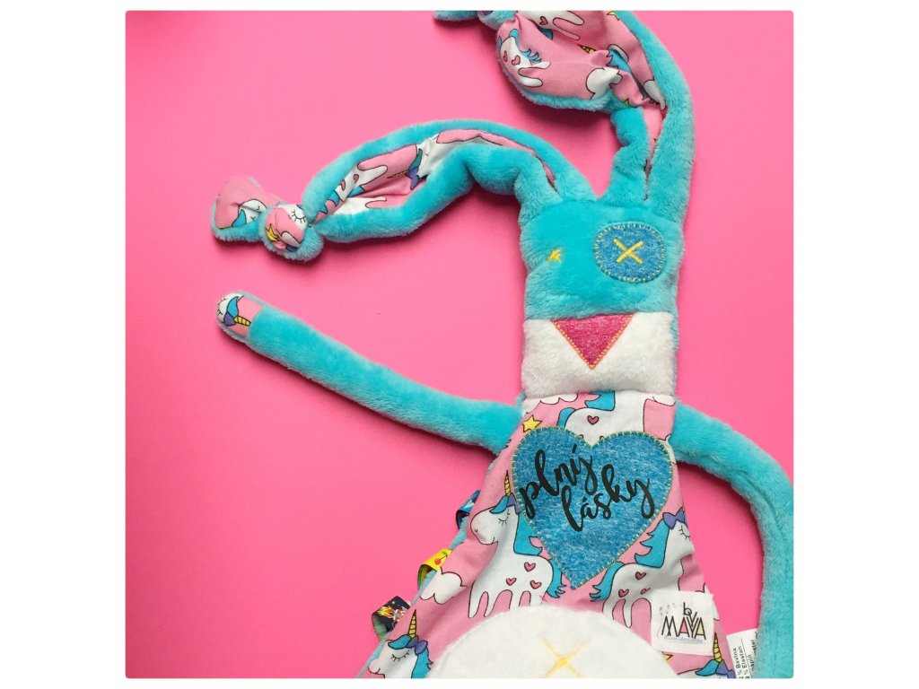 Muchláček Modrásek s růžovou